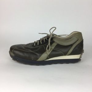 Kenneth Cole Reaction Olive Green Leather Sneaker